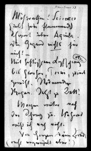 Lettera di Nietzsche del 10 giugno 1883